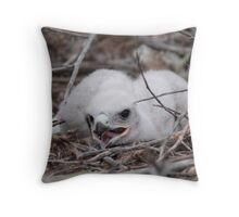 Ground Nest Baby Throw Pillow