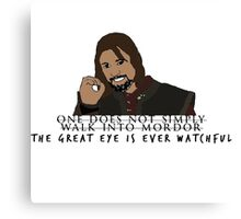One Does Not Simply Canvas Print