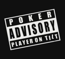 Advisory Poker Player On Kids Clothes