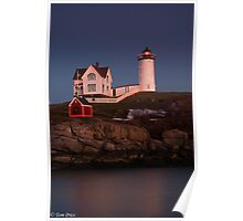Christmas at Cape Neddick Poster
