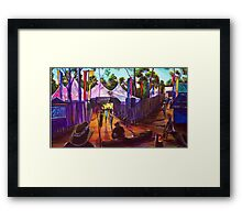 GYMPIE MUSTER - 25TH COLLECTION - MUSTER BAR Framed Print