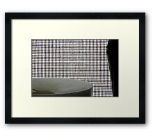 Candle, vase and screen Framed Print