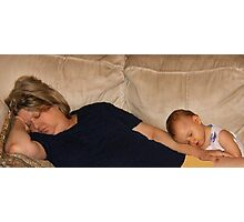 The Fine Art of Power-napping (or...When I grow up I want to be just like my Nana!) Photographic Print