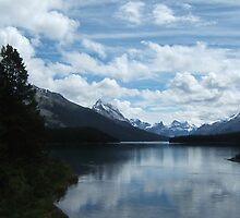 Maligne Lake - Where Clouds Touch Mountains by Meg Engele