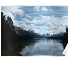 Maligne Lake - Where Clouds Touch Mountains Poster