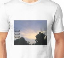 i exist x3 Unisex T-Shirt