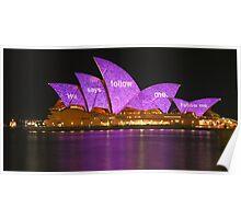 Follow me - Vivid Festival, Sydney Opera House Poster