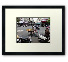 Bicycle Fruit Shop in Ho Chi Minh City Framed Print