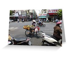 Bicycle Fruit Shop in Ho Chi Minh City Greeting Card