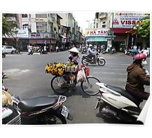 Bicycle Fruit Shop in Ho Chi Minh City Poster
