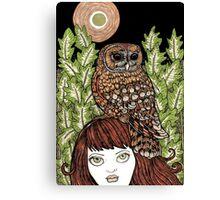Owl Familiar Canvas Print