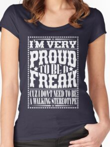 Proud to be a freak - White Women's Fitted Scoop T-Shirt