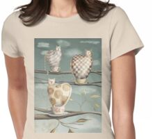 Cats in Cups Womens Fitted T-Shirt