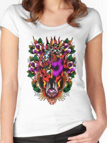 In Devil We Trust Women's Fitted Scoop T-Shirt