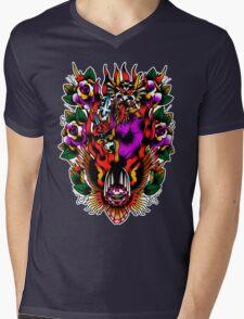 In Devil We Trust Mens V-Neck T-Shirt