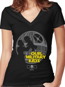 Our Military Kids Women's Fitted V-Neck T-Shirt