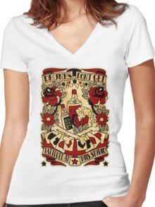 Informative Signs - Drunks don't get tattooed Women's Fitted V-Neck T-Shirt