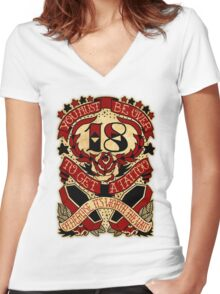 Informative Signs - Must be over 18 Women's Fitted V-Neck T-Shirt