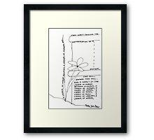 Ladder of Words Framed Print