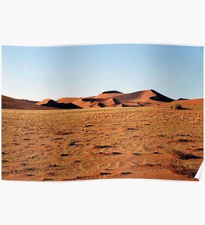 Sculptural Dunes, Namibia Poster