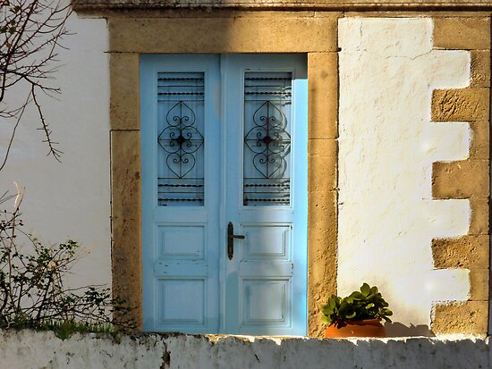 Doors in Patmos Greece by Lucinda Walter