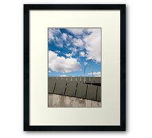 Car-park with Clouds Framed Print