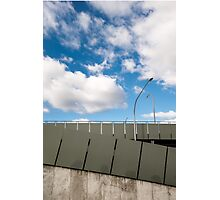 Car-park with Clouds Photographic Print