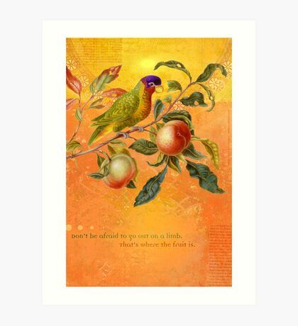 Don't be afraid to go out on a limb... Art Print
