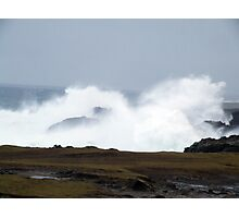 Sea spray at Ness cliffs, Isle of Lewis Photographic Print
