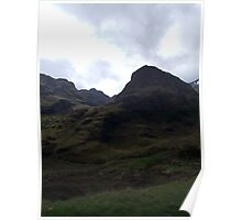 Brooding mountains of Glencoe Poster