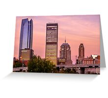 Oklahoma City Downtown Skyline at sunrise Greeting Card