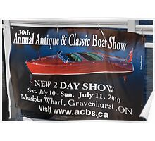 Antique wooden boats in Muskoka Poster