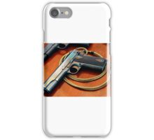 Colt 1911 classic with lanyard iPhone Case/Skin
