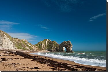 Blue Sky over Durdle Door. by DonDavisUK