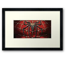 Spider Man Chest Plate Framed Print
