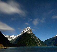 Mitre Peak Under the Stars by Michael Treloar