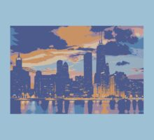 Chicago skyline Kids Clothes