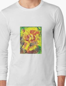red yellow green cat Long Sleeve T-Shirt