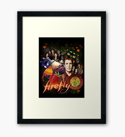 Firefly Cast Collage Framed Print