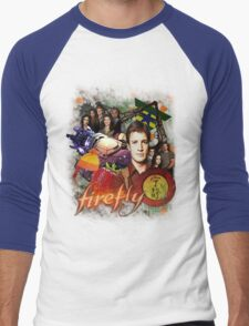 Firefly Cast Collage Men's Baseball ¾ T-Shirt