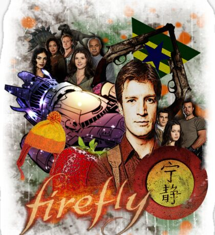 Firefly Cast Collage Sticker