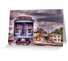 Historic Tuckahoe Train Greeting Card