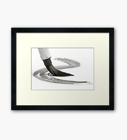 Sumi-e Brush 2 Framed Print