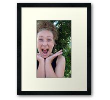 Excitable Framed Print