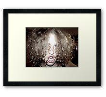 Curly Haired Monster Framed Print