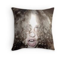 Curly Haired Monster Throw Pillow