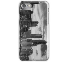 Chicago skyline in black and white iPhone Case/Skin