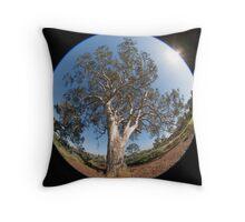 Suburban Gum Tree Throw Pillow