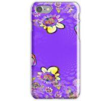 Vaporwave-Trippy Galactic Flowers iPhone Case/Skin