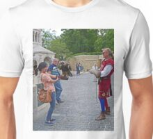 Getting a lesson in falconry Unisex T-Shirt